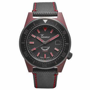 SQUALE T-183 RED CARBON 60 ATMOS DIVER 600M Men's Watch WARRANTY Ltd Ed 150pcs