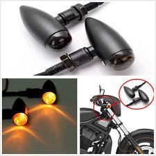 2 Pcs Mini Bullet Black Smoke Lens Amber 12LED Motorcycle Turn Signal Indicator
