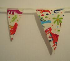 Dinosaur Bunting Party orange Decor Nursery Unisex Birthday