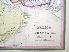 1846 Persia Arabia Afghanistan Iraq * Tanner Original Antique Map Vg+