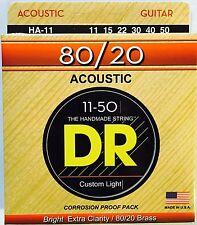 DR HA-11 Hi-Beam 80/20 Acoustic Guitar Strings 11-50 med lite