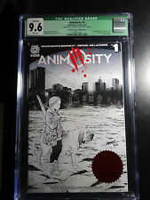 Animosity #1 Blindbox Embossed Artist Series Sketch Aftershock Ltd 18/20 CGC 9.6