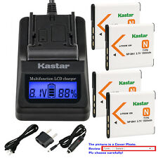 Kastar Battery LCD Fast Charger for Sony NP-BN1 NPBN1 & Sony Cyber-shot DSC-W350