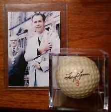 TONY LEMA BRITISH OPEN PHOTO CARD & SIGNATURE GOLF BALL UNIT