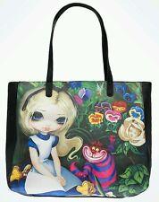 Disney Parks Wonderground Alice Wonderland Tote Bag Jasmine Becket-Griffith NEW