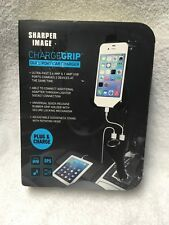 Sharper Image Charge Grip Dual Port Car Charger iPhone Android Samsung New