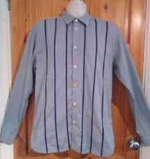 "Ted Baker blue stripe mens slim shirt size XL 17"" collar"