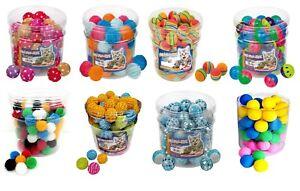 Katzenspielzeug Bälle Auswahl Moosgummiball Igelball Plüschball Kunststoff Katze