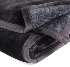 Blanket Queen Double Single Mink Black Luxurious 500gsm. RRP $179.00