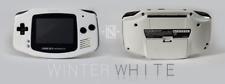 *NEW GLASS SCREEN* Nintendo Game Boy Advance GBA White Custom System MINT NEW