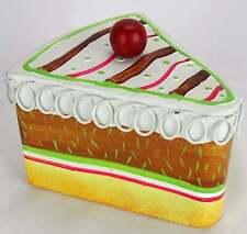 Vintage Tin Cake Slice Storage Container