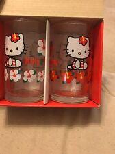 Hello Kitty Sanrio Kitty & Mommy Drinking Glass Set Of 2 Vintage 1999