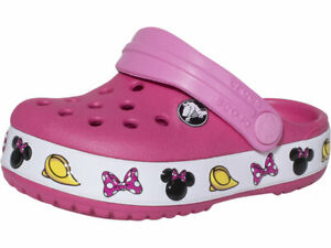 Crocs Toddler Kids Girl's Disney Minnie Mouse Crocband Clogs Slip On Water Shoes