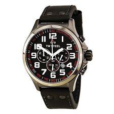 TW Steel TW422 Gent's Grey Dial Grey Leather Strap Chrono Watch