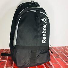 Reebok Backpack Black School Work Fitness Free Priority Shipping