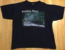 Vintage 90s Bushkill Falls t shirt XL black bridge waterfall Pennsylvania PA