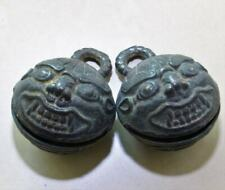 Vintage Chinese Bronze Metal Pair Bells