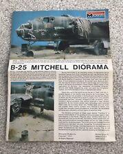 MONOGRAM B-25 B-25H Mitchell Shep Paine Diorama Instruction Original 1/48 Revell