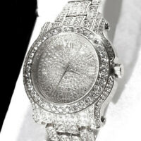 Crystal Watch Stainless Steel Lady Crystal +GIFT BOX Quartz Watch