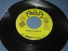 """The Three Degrees""""Giving Up Giving In""""/45/Mono/Stereo"""
