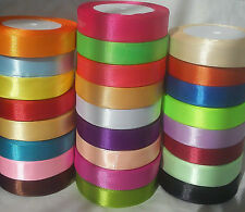 Satin Ribbon x 20 Rolls, 20 Different Colours, 20 MM, 25 Yards Each, RRP £40