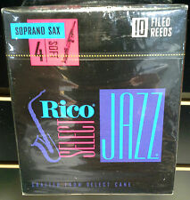 Rico Select Jazz Soprano Saxophone Reeds Strength: 4 Soft Box of 10