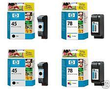 4 x Original HP Deskjet 930c 950c 970cxi 980c 990cxi 995c 1220c / Tinte 78 + 45