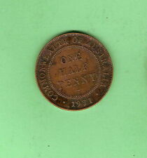 1931 AUSTRALIAN BRONZE HALFPENNY COIN