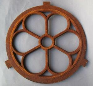 Ein Round Window Bars Made of Cast Iron IN Rust Design 260.011-3