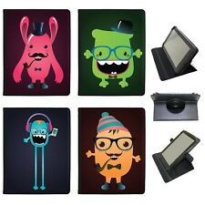Azzumo Funny Freak Hipster Trendy Monsters PU Leather Case for Samsung Tablet