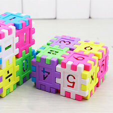 Newly Kids Number Blocks Children Hollow Assembly Cube Toy Set Random Colour