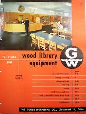 Vtg GLOBE-WERNICKE Wood Library Planning RETRO Catalog Furniture Chairs Desk '52