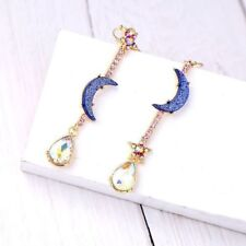 Beautiful Betsey Johnson Fashion Jewelry Blue moon&star earrings Woman jewels