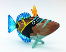 Sea Fish Crest Hand Blown Blowing Glass Art Animal Fancy Collectibles Gift V.5