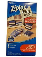 NEW Ziploc Space Bag 3 Bag Variety, 2 Large Flats / 1 Suitcase Bag Space Saver