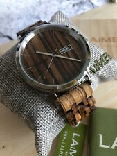 LAiMER Automatic Holzuhr Roberto - Herren Armbanduhr Zebranoholz , Top Design,