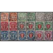 Danzig Nr. 193-201 a+b gestempelt 18 Werte