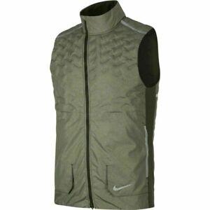 Nike Men's Running Vest AeroLoft BV4862 355 SMALL S Green Reflective Silver $180