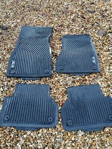 Genuine Audi A4 Avant Rubber Mats Front And Back, Great Condition