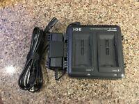 IDX LC-VWP Dual Battery Charger for SSL-VBG50, VW-VBD55, VW-VBG6 and VW-VBG260 1
