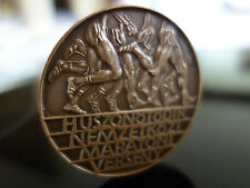 VINTAGE CLASSICAL STYLE  ! HUNGARIAN BRONZE 80s MARATHON MEDALLION