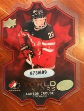 2016-17 UD Ice Hockey World Juniors #WJ-LC Lawson Carouse /699 Pack Fresh