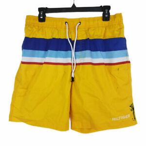Tommy Hilfiger Men's Swim Shorts Size L Yellow
