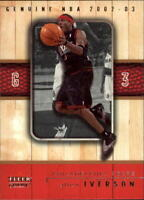 2002-03 Fleer Genuine Basketball Cards Pick From List