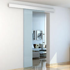 HOMCOM Sliding Glass Door 8mm Tempered Interior System Handle 75 x 210cm