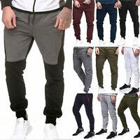 Mens Jogging Bottoms Joggers Tracksuit Casual Fleece Pants GYM Sports Sweatpants