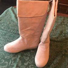 NWT crazy eights crazy8 sz 4 cow girls cowboy faux suede western boots beige