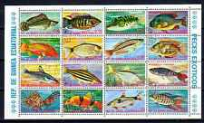 Poissons Guinée équatoriale (55) série complète de 16 timbres oblitérés