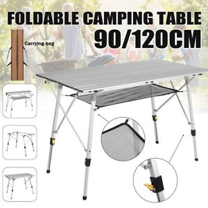 Portable Indoor Outdoor Aluminum Folding Table Party Camping Furniture Adjustabl