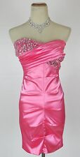 Windsor $85 Neon Pink Evening Prom Formal Cruise Dress Short Homecoming size 11